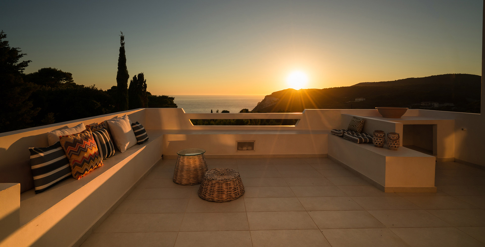 The balcony of Kalas Residence at Keri, Zante